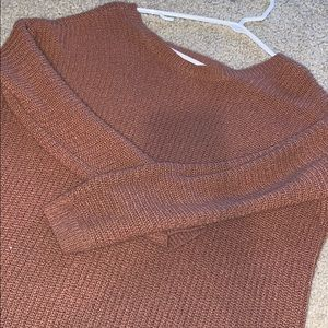 Forever 21 Tops - burnt pink open back sweater